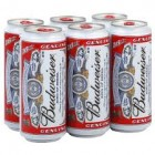 BUDWEISER CANS 330ML 6PK